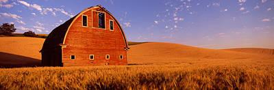 Old Barn In A Wheat Field, Palouse Art Print