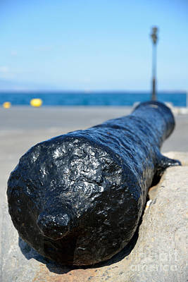 Photograph - Old Cannon In Aegina Port by George Atsametakis