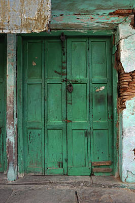 India Photograph - Old Doors India, Varanasi by Stereostok