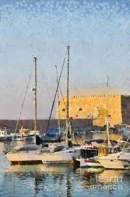 Painting - Painting Of Old Fortress by George Atsametakis