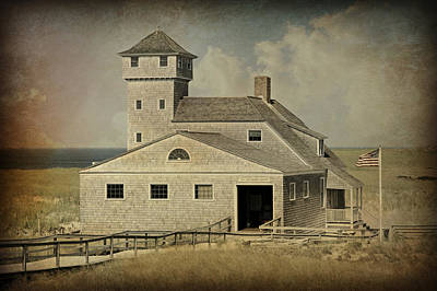 Old Harbor Lifesaving Station -- Cape Cod Art Print by Stephen Stookey