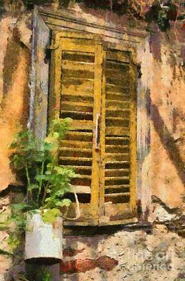 Houses Painting - Old House In Plaka Area Of Athens by George Atsametakis