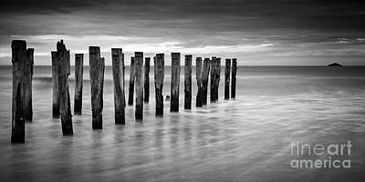 Photograph - Old Jetty Pilings Dunedin New Zealand by Colin and Linda McKie