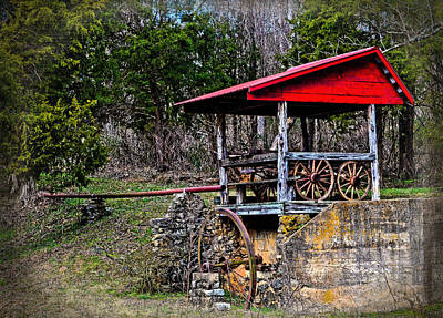 Old Mill Of Guilford Pumphouse Art Print by Sandi OReilly
