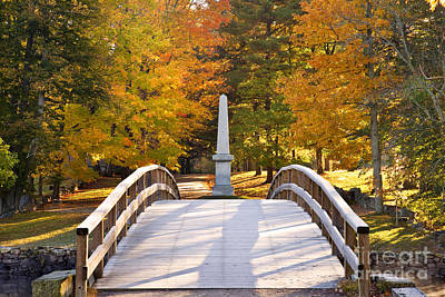 Photograph - Old North Bridge Concord by Brian Jannsen