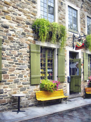 Photograph - Old Quebec City Quaint Shops  by Ann Powell