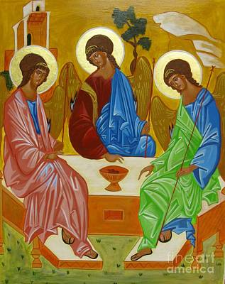 Old Testament Trinity Painting - Old Testament Trinity by Joseph Malham
