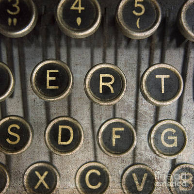 Part Of Photograph - Old Typewrater by Bernard Jaubert