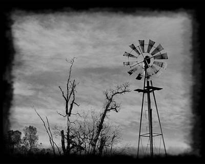 Art Print featuring the photograph Old West Wind Wheel by William Havle