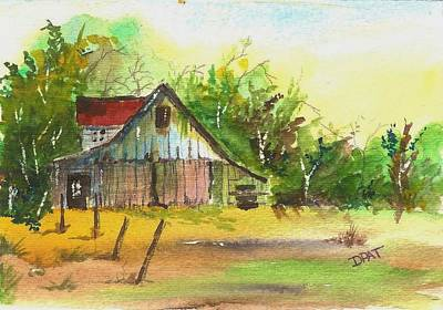 Fixing Painting - Old Western Ranch Barn by David Patrick