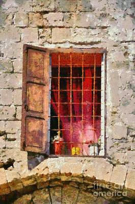 Painting - Old Window by George Atsametakis