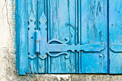 Old Wooden Door Art Print by Tom Gowanlock