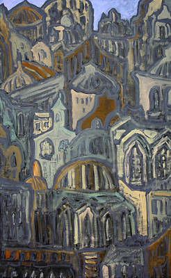 Painting - Old World by Oscar Penalber