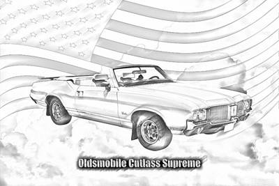 Photograph - Oldsmobile Cutlass Supreme Muscle Car by Keith Webber Jr
