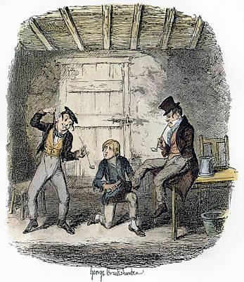 Bat Boy Painting - Oliver Twist, 1837-38 by Granger