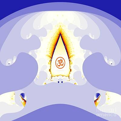 Hindu Goddess Digital Art - Om by M Rao
