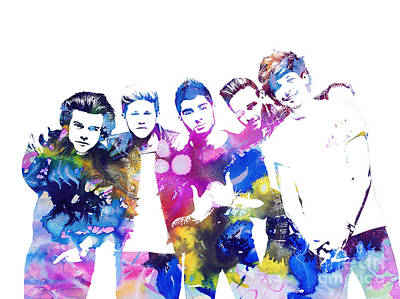 Niall Painting - One Direction by Doc Braham