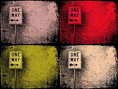 Aging Digital Art - One Way Street by Tara Turner