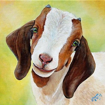 Goat Wall Art - Painting - Opal by Laura Carey