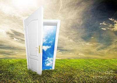 Unreal Photograph - Open Door To New Life by Michal Bednarek
