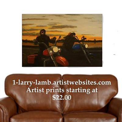 Easy Rider Painting - Open Road by Larry Lamb