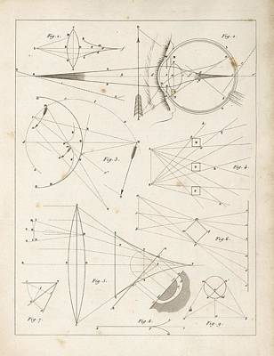Optical Theories Of Drawing Art Print by King's College London