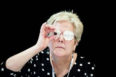 Ophthalmologists Photograph - Optometry Lens Demonstration by Dan Dunkley