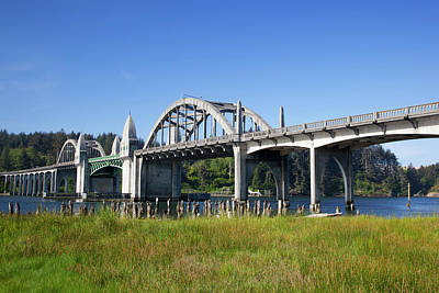 Or, Florence, Siuslaw River Bridge Art Print