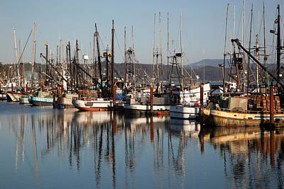 Yaquina Bay Photograph - Or, Newport, Fishing Boats by Jamie and Judy Wild