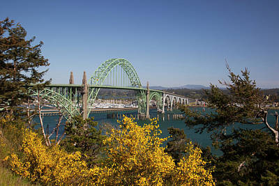Yaquina Bay Bridge Photograph - Or, Newport, Yaquina Bay Bridge by Jamie and Judy Wild