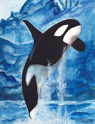 Painting - Orca by Molly Williams