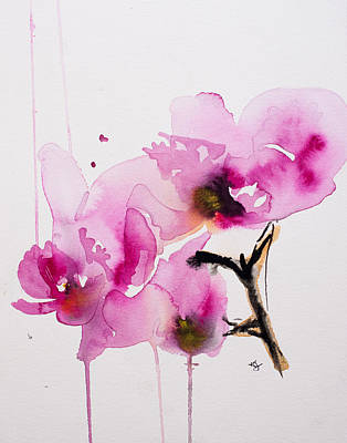 Orchids Painting - Orchid Study II by Karin Johannesson