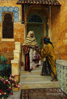 Young Man Painting - Orientalist Paintings by Celestial Images