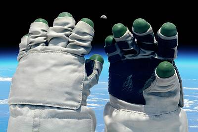 Spacesuit Photograph - Orlan Spacesuit Gloves by Detlev Van Ravenswaay