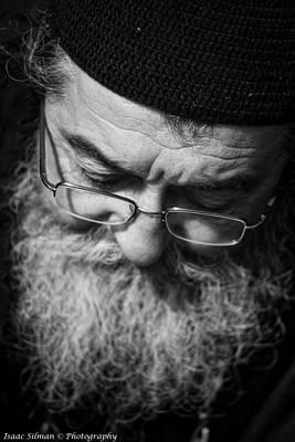 Baptizing Photograph - Orthodox Priest by Isaac Silman