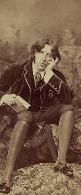 Of Dorian Gray Photograph - Oscar Wilde 1882 by Napoleon Sarony