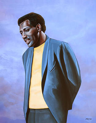 The King Painting - Otis Redding Painting by Paul Meijering