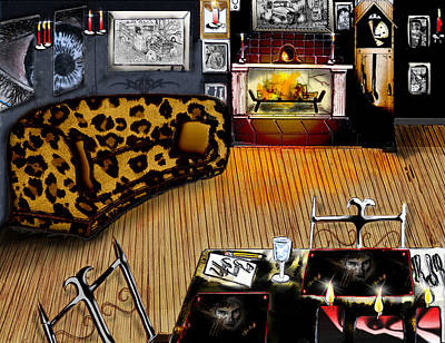 Gerald Griffin Mixed Media - Our Little Doll House by Gerald Griffin