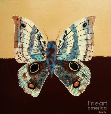 Painting - Owl Butterfly by Jean Fry