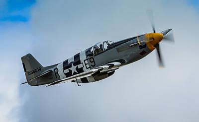 P 51 Mustang Fighter Plane  Art Print