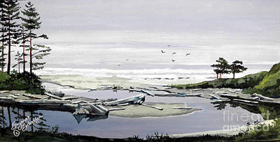 Painting - Pacific Northwest Ocean Cove by Suzanne Schaefer