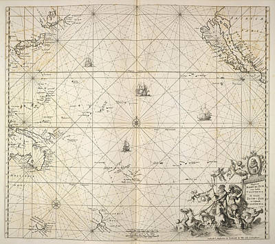 Pacific Ocean Art Print by British Library