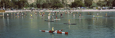 Dana Photograph - Paddleboarders In The Pacific Ocean by Panoramic Images