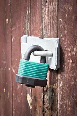 Photograph - Padlock by Tom Gowanlock