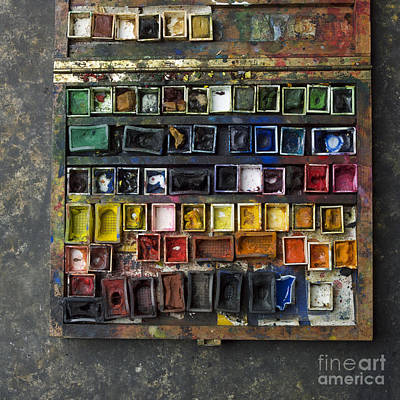 Paint Box Art Print by Bernard Jaubert