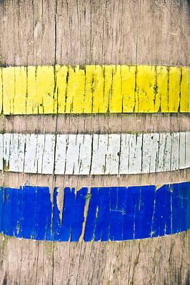 Paint Marks Art Print by Tom Gowanlock