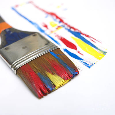 Part Of Photograph - Paintbrush by Bernard Jaubert