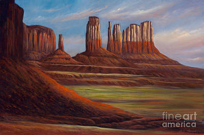Painted Monuments Art Print