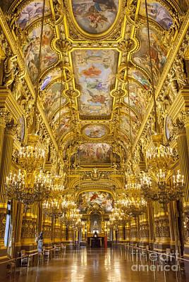 Balusters Photograph - Palais Garnier Interior by Brian Jannsen