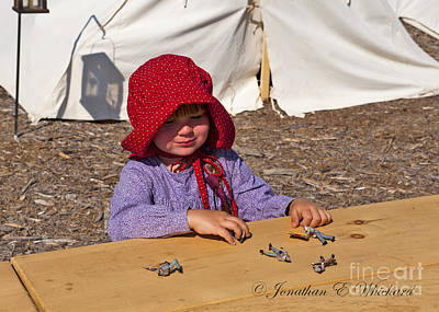 Photograph - Palas Athena Ladies Aid Society 150 Civil War Reenactment Of The Battle Of Wilderness by Jonathan E Whichard